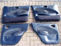 Ford Escort Mk6 Ghia X Door Cards x4. Full 3 piece Rear Seat and Headrests