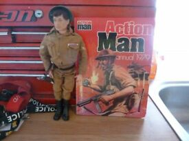 "12"" Vintage Palitoy Action Man Soldier & Annual"