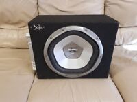CAR ACTIVE SUBWOOFER SONY XPLOD 1200 WATT 12 INCH BASS BOX WITH BUILD IN AMPLIFIER SUB WOOFER AMP