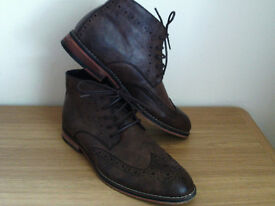 Men's Lambretta Brogue Ankle Boots Size 8
