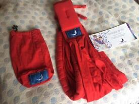 Baba Sling in Red virtually unused - instruction booklet included
