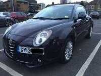 2013p Alfa Romeo Mito 0.9 TwinAir 8v Sprint 3dr 875cc 6 Speed Manual Italian Black!