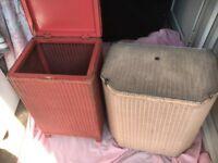 Collectible, old Lloyd loom wash baskets