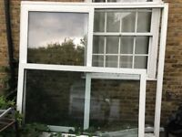 Large used white patio doors/sliding doors/french doors