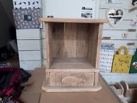 Handmade wooden cupboard with drawer and fish detail