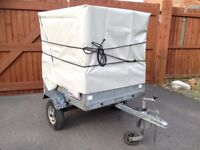 Erde 110 Small Extra High Trailer, Galvanised Steel