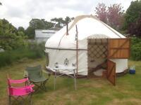 Yurt. 14 ft (4.3m) diameter hand crafted bespoke bentwood Yurt in ash and oak.