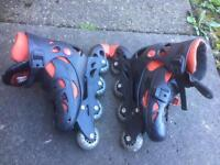 Once used only inline skates with helmet size 4