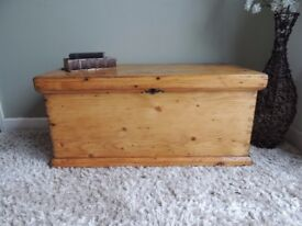 Fabulous Victorian Solid Pine Blanket Box