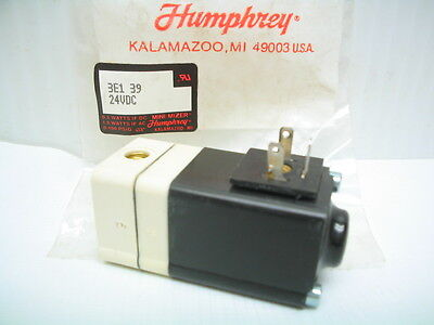 Humphrey Mini-mizer Solenoid Pneumatic Air Valve 3e1-39 24vdc