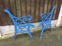 Distinctive Fleur De Lys Cast Iron Garden Bench Ends Many Sets Available