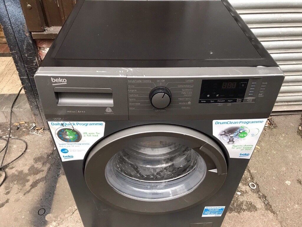 Beko silver washer..Ex display....Mint free delivery