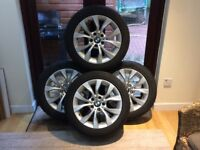 X1 BMW ALLOY WHEELS AND RUN FLAT WINTER TYRES