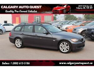 2007 BMW 328XI WAGON/AWD/LEATHER/PANO-ROOF / LOW KMS