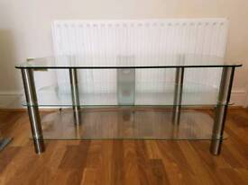 Tempered glass TV stand -item located: Birmingham
