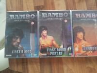 Rambo trilogy, incl First Blood, Rambo II & Rambo III all in boxed set