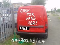 WANTED ANY VANS.... £100 - £1000 ANY SIZE ....CASH WAITING