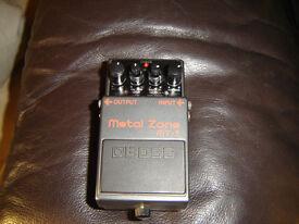 Boss metal zone guitar pedal mt-2