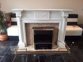 Fireplace with REAL marble