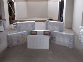 SIX BRAND NEW RADIATORS - UNUSED BECAUSE OF OVER SPECIFICATION