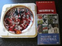 Manchester United Premiership Champions 2006 - 2007 Danbury mint collector plate + Dvd's.