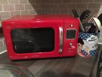 Vintage microwave red