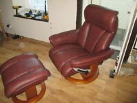 The Mars reclining chair extra wide and footstool