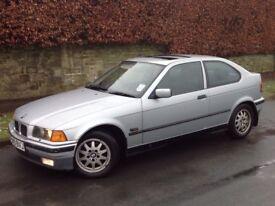 BMW 318 TI AUTO PETROL 3 DOORS HATCH BACK SILVER ** LOW MILEAGE!!! ++ LONG M.O.T!!! **