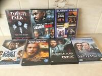For sale as a lot or individually, adventure films on DVD
