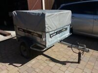 Daxara 137 car Trailer - 4ft, tipping, cover