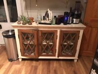 Kitchen Cupboards - Pine Unit with Glazing