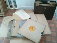 Vintage 78 RPM gramaphone records