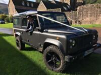 Wedding car Land Rover 110 for hire