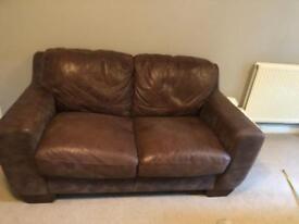 Brown Leather Sofa (furniture village)