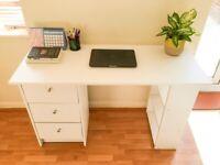 Modern Habitat Malibu 3 Drawer Office Desk - White