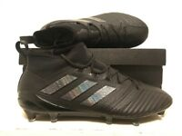 Adidas Ace 17.1 RRP £220 Size 8 Football Boots Primeknit FG EU 42 Black (17 AG 3G HG footy rugby)