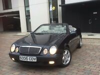 MERCEDES BENZ CLK230 KOMPRESSOR AUTOMATIC *CONVERTIBLE* MET BLUE GREY LEATHER CHECK-IT