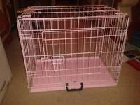 Brand New Pink Small Sized Dog Cage Still in the Box