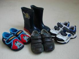KIDS TRAINERS, WELLIES AND SHOES - SIZE 7 - BARGAIN PACKAGE
