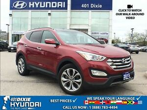 2015 Hyundai Santa Fe Sport 2.0T LTD|1 OWNER|NAVI|LEATHER|HTD SE