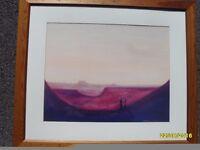 Beautiful Masai landscape print.