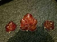 Carlton ware rouge royal leaf set collectable