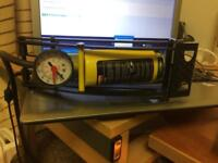 Air pump with gauge for car or biyck