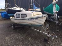 16ft Bonwitco 450 motorboat with trailer