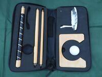 Portable Golf Putter Set Kit for Travel Indoor Golf Putting Practice