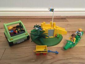 Playmobile playground and car