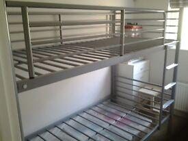 Metal framed bunk beds