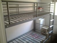 Metal framed bunk beds (dismantled & ready for collection)