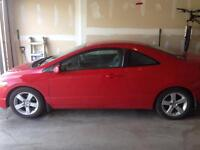 2006 Honda Civic coupe red.