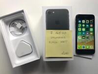 iPhone 7 128GB, unlocked, black Matt, excellent condition, full working.